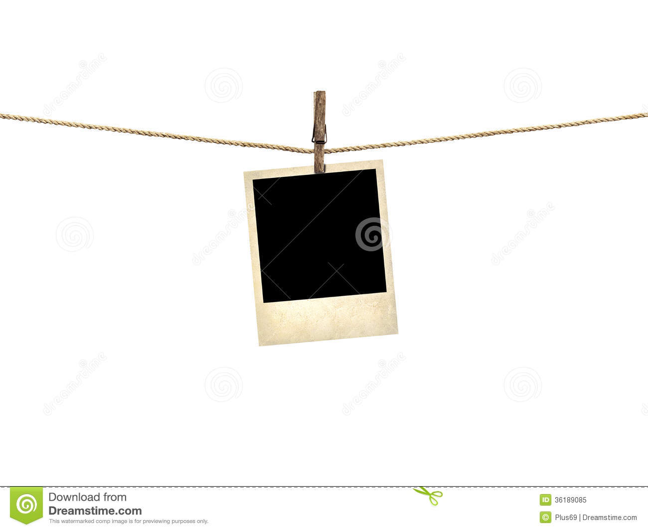 Old Style Photo Hanging On A Clothesline Stock Image Image Of