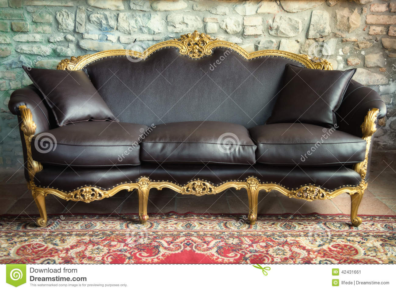 Download Old Style Sofa Stock Image. Image Of Upholstery, Design   42431661