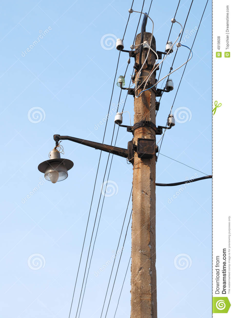 Sreet Lamp And Wires Wire Center Digit Binary Counter Circuit Diagram Tradeoficcom Old Style Street Lantern With Stock Photo Image Of Electric Rh Dreamstime Com