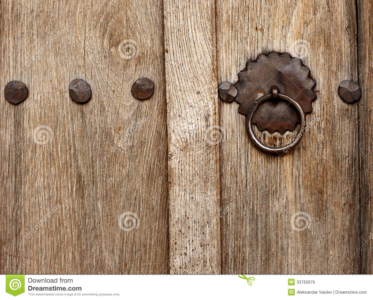 Kotel Decoration : Old style wood door with latch royalty free stock image