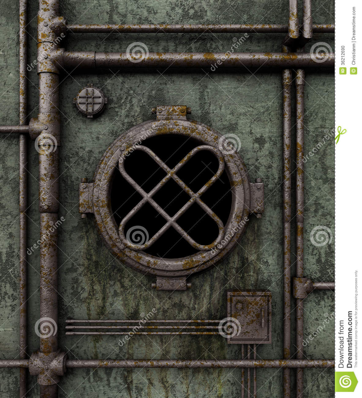 Old Submarine Porthole Stock Photo Image 36212690