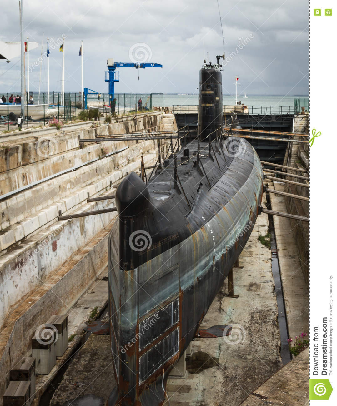 Old submarine surfaced