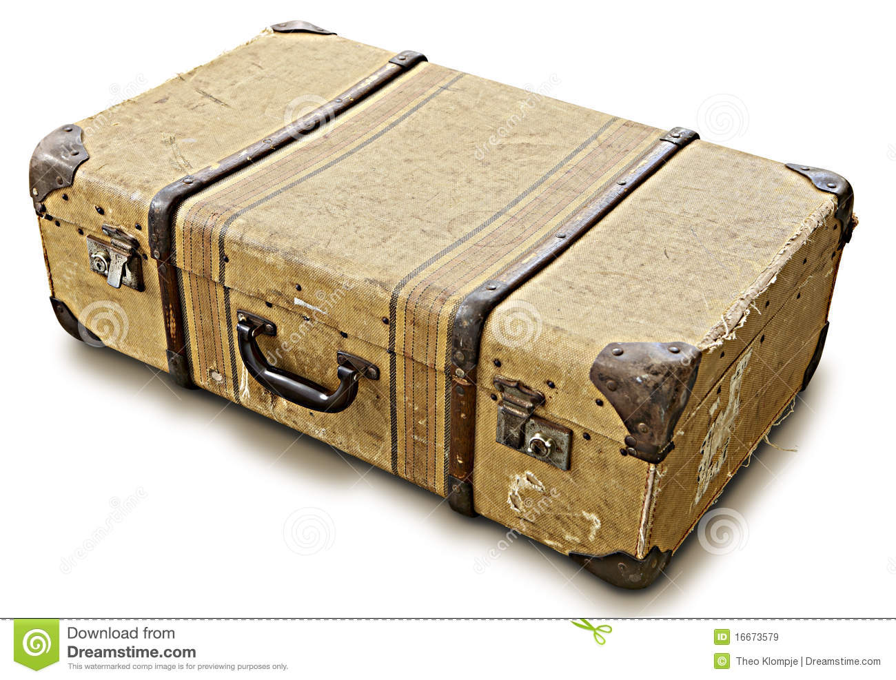 Old Suitcase Royalty Free Stock Images - Image: 16673579
