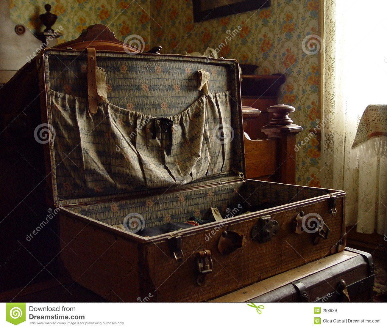 old suitcase stock image image of laces apartment inside 298639
