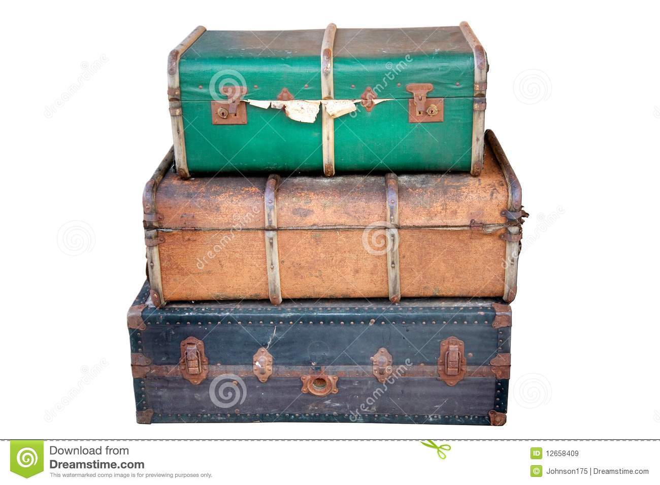 Old Suitcases Old Suitcases Royalty Free Stock Images Image 12658409
