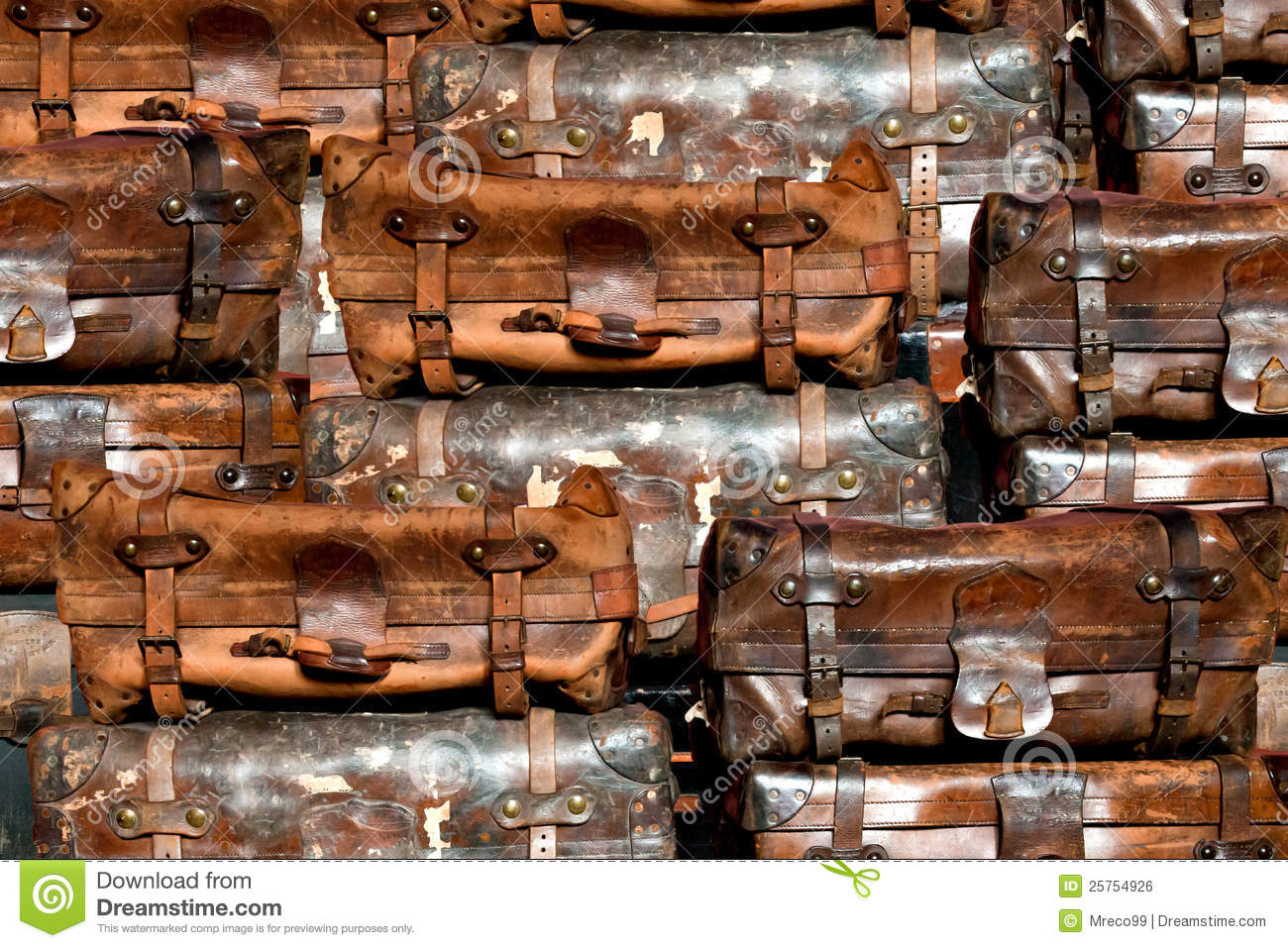 Old Suitcases Old Suitcases In A Stack Royalty Free Stock Image Image 25754926