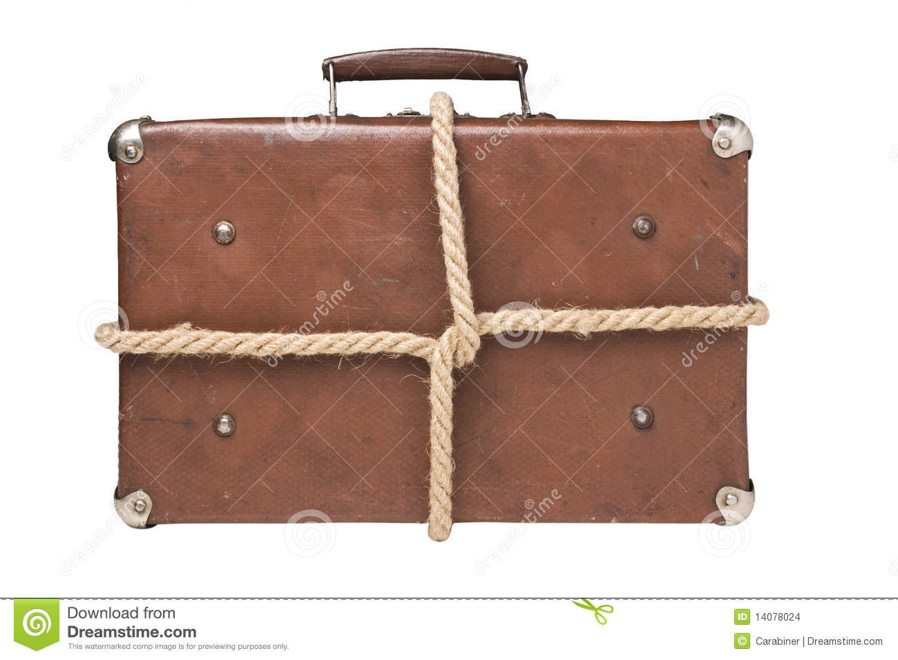 Old Suitcases Old Suitcases Tied With Rope Stock Images Image 14078024
