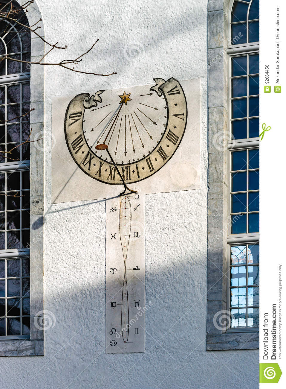 Sun clocks for the wall choice image home wall decoration ideas old sun clock on the wall of church stock photo image 92664456 royalty free stock photo amipublicfo Choice Image