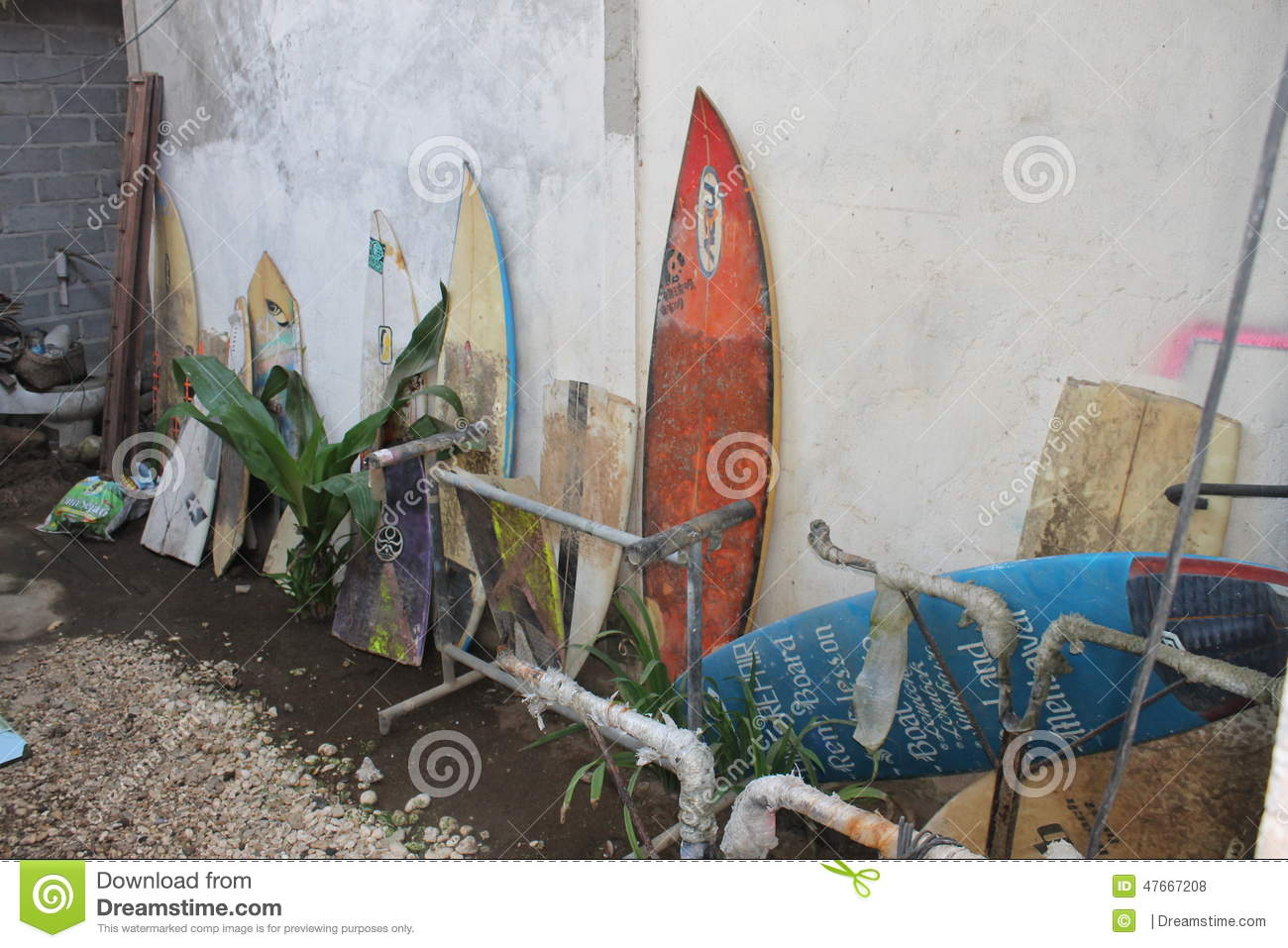 Old Surfboards Editorial Stock Photo Image Of Surfing 47667208