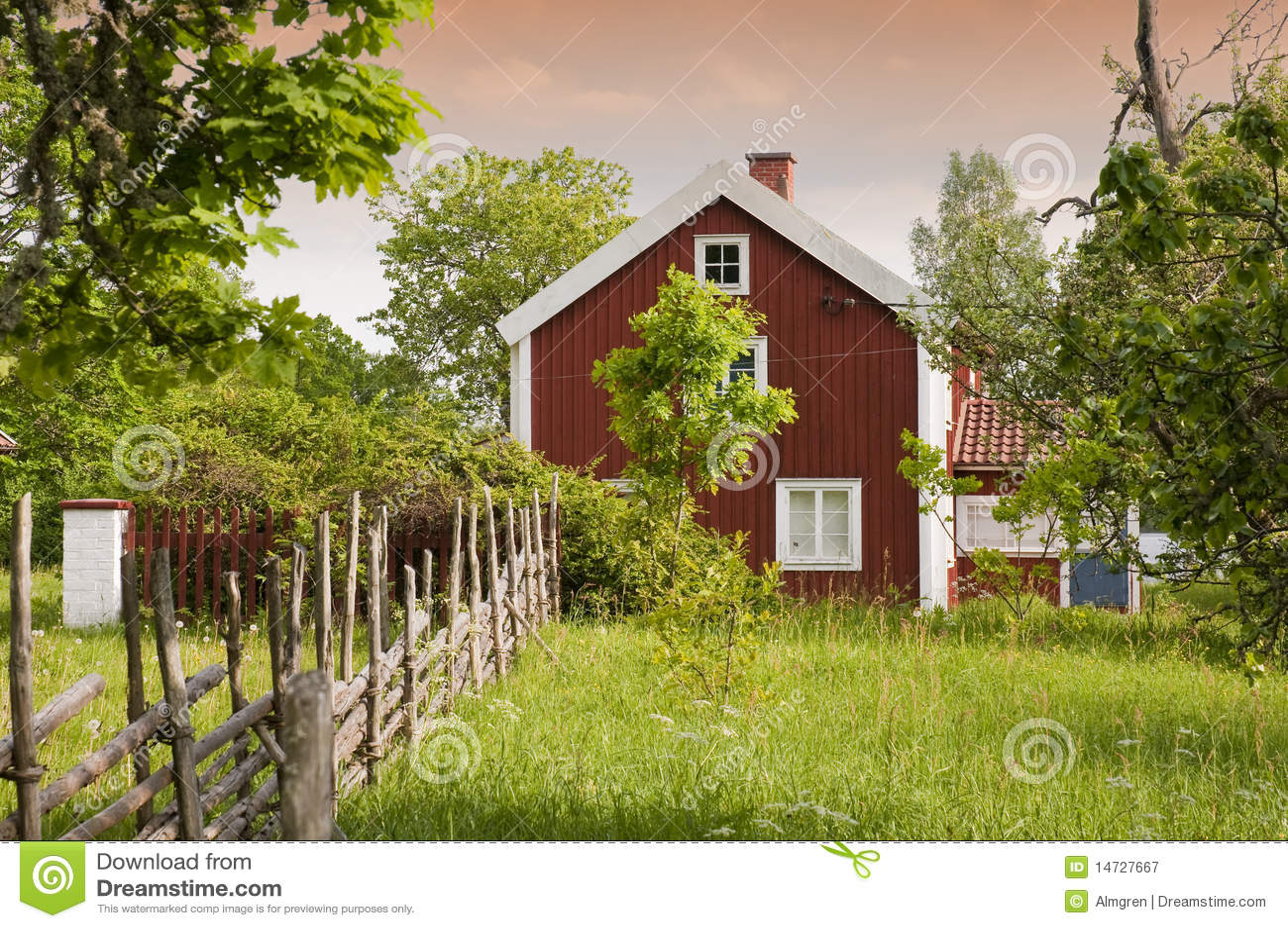 Old Swedish Farmhouse Royalty Free Stock graphy Image