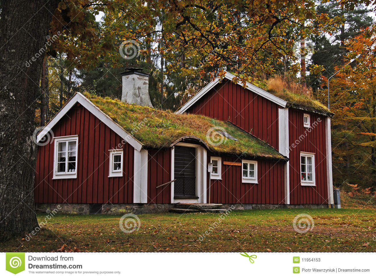 Old swedish house stock image image of summer cottage for Traditional swedish house plans