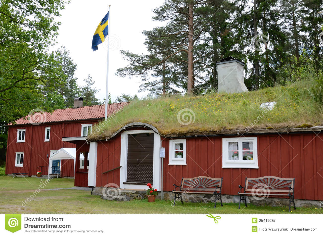 Old Swedish Houses Stock Image Image Of Architecture - Traditional swedish homes