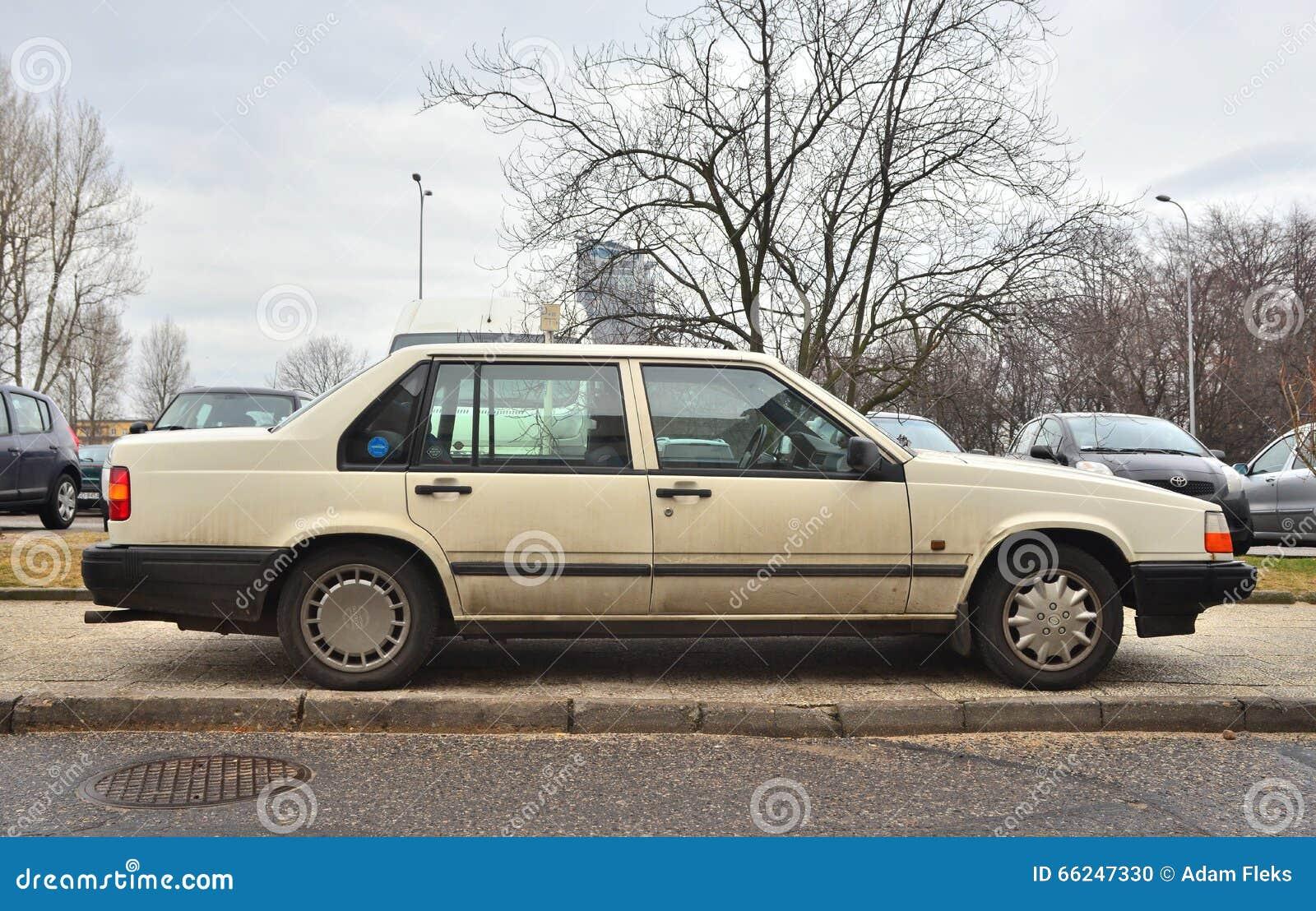 Old Swedish Volvo 940 Sedan Car Parked Editorial Image