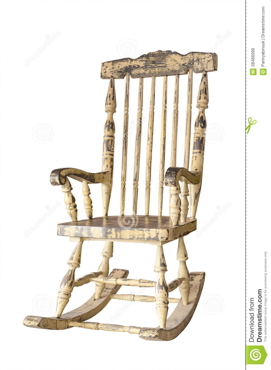 Old Swing Chair Over White Stock Image