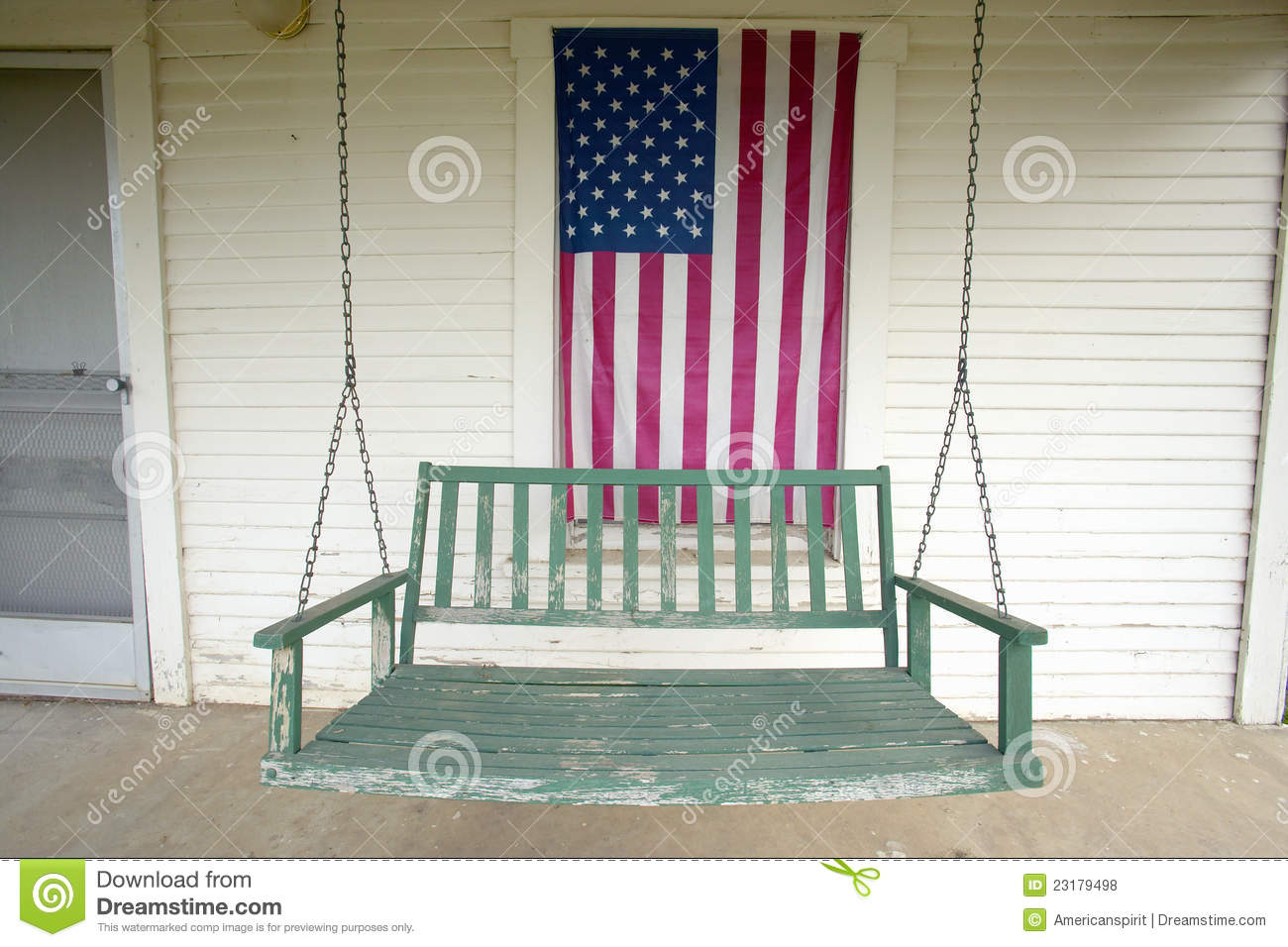 Old swing on porch royalty free stock photos image 23179498 for Old porch swing