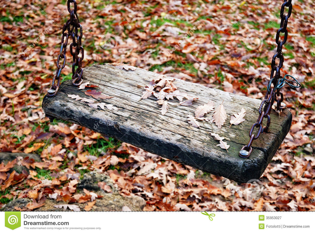 Old swing seat stock image. Image of color, game, seat ...