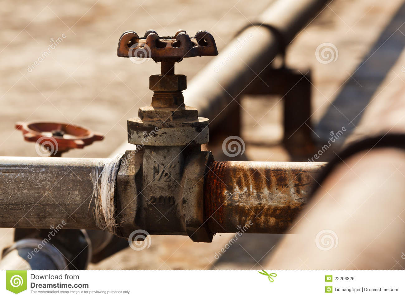 Old taps and pipes stock photo. Image of rusted, faucet - 22206826