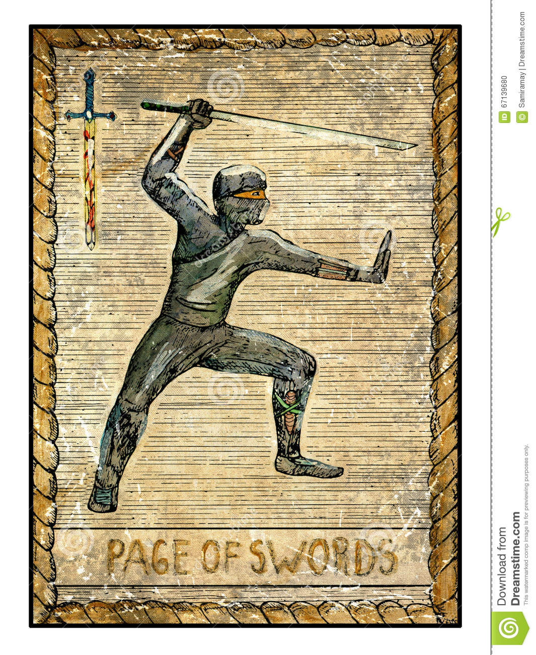 Card Meaning of Two of Swords @ Lotus Tarot