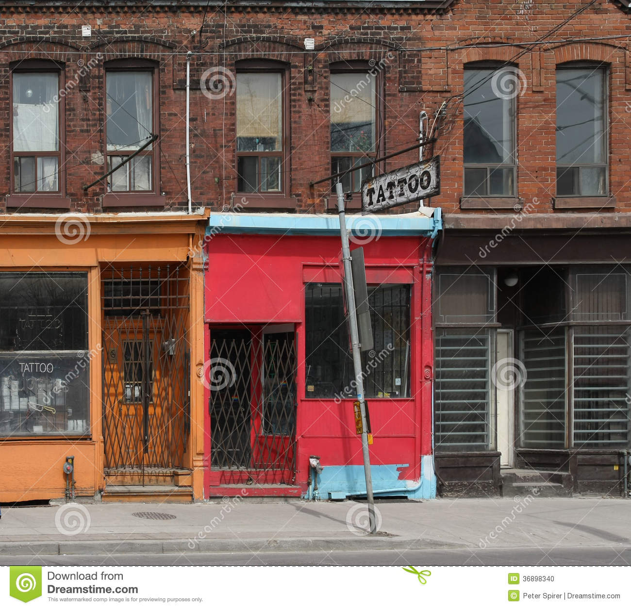 Old tattoo shop stock photo. Image of tattoo, shop, exterior - 36898340