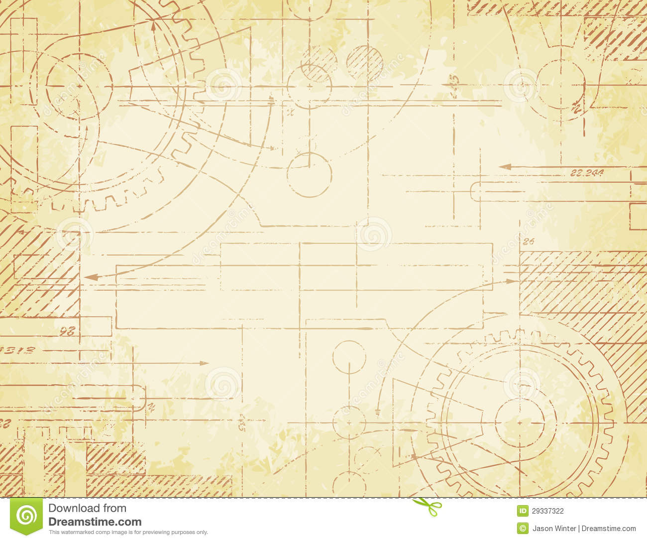 Old technical drawing stock vector illustration of draw 29337322 old technical drawing malvernweather Images