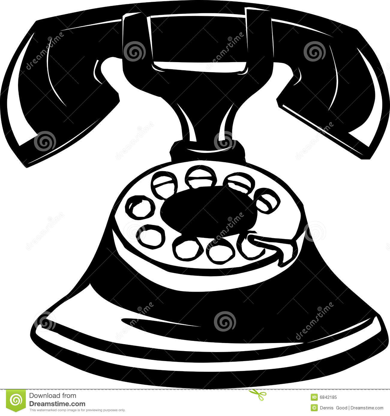 Photos  IllustrationsVintage Telephone Illustration