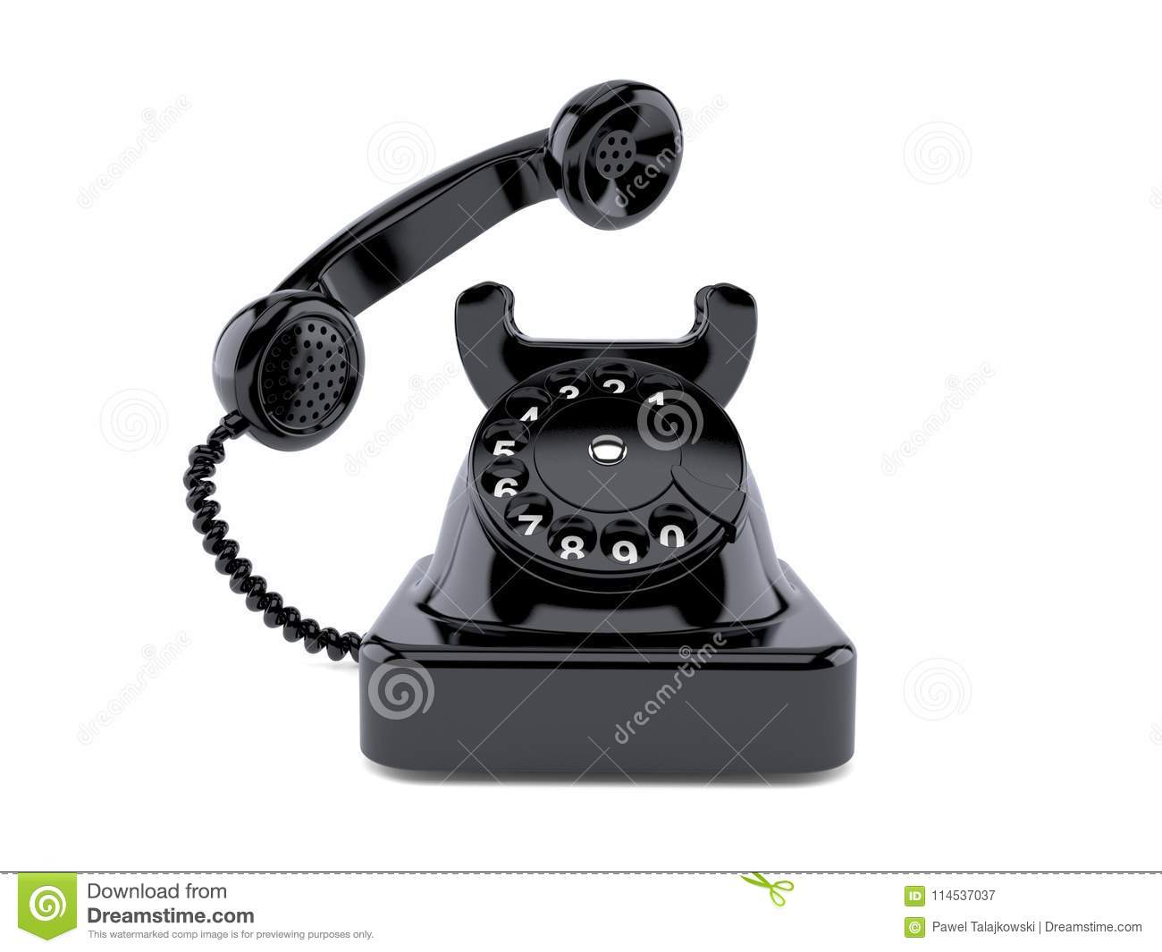 Old telephone stock illustration  Illustration of background