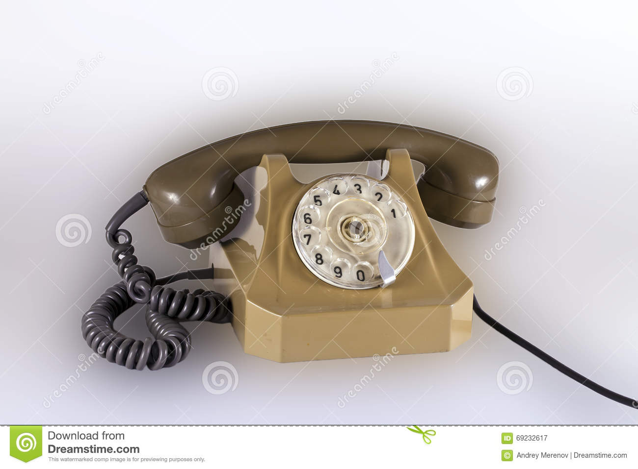 Old Telephone With A Wire Stock Image Of Handset 69232617 Wiring