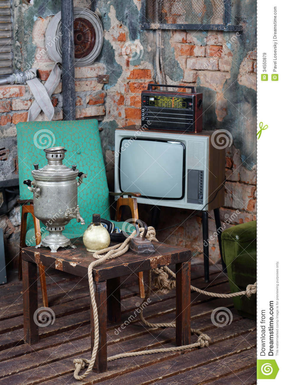Old television,...