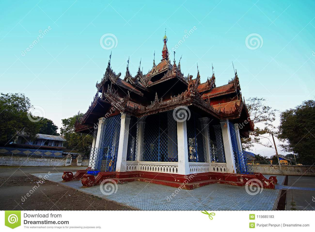The old temple in Myanmar built a long time.