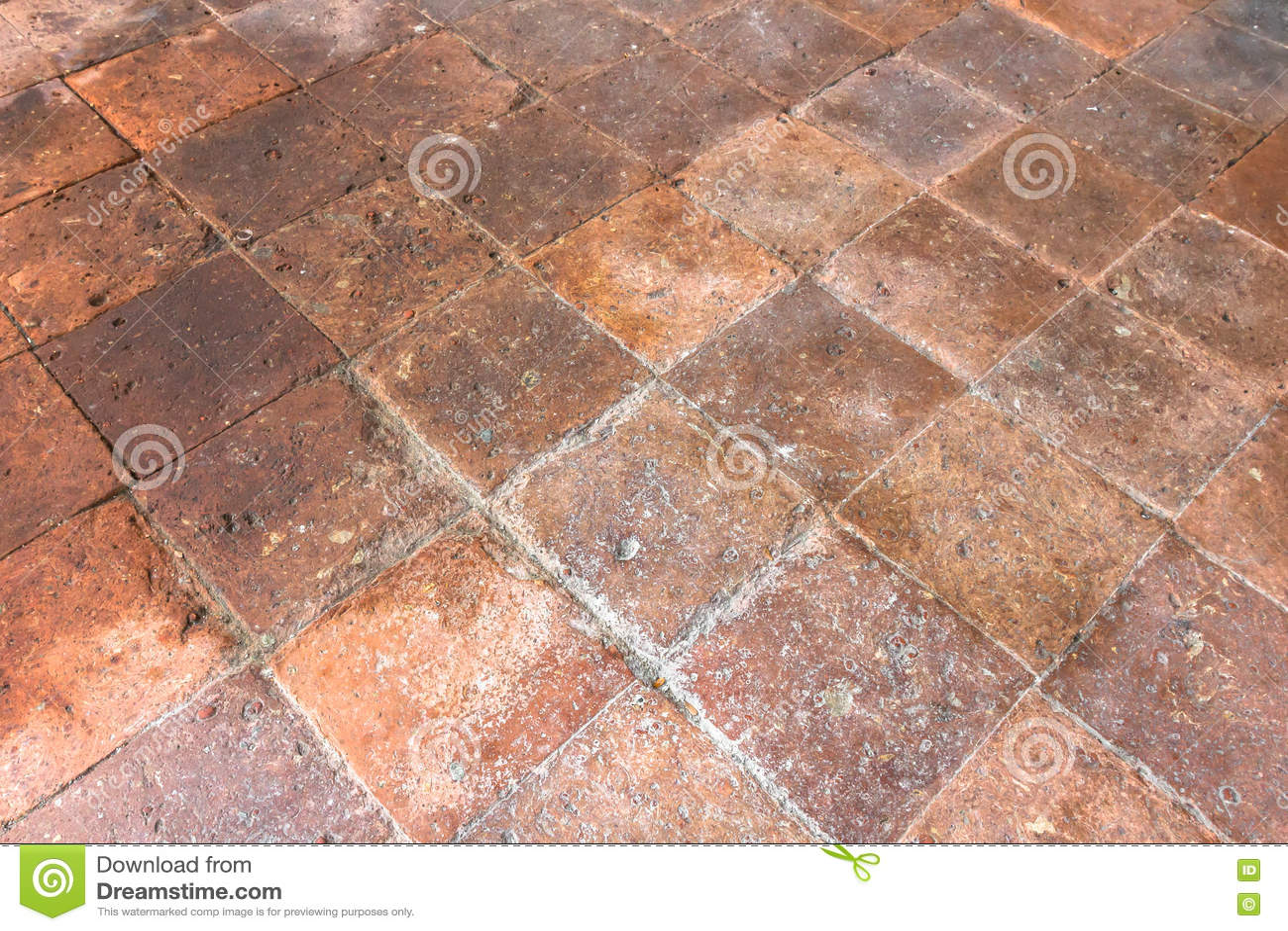 Old terracotta floor stock image  Image of home, ceramic