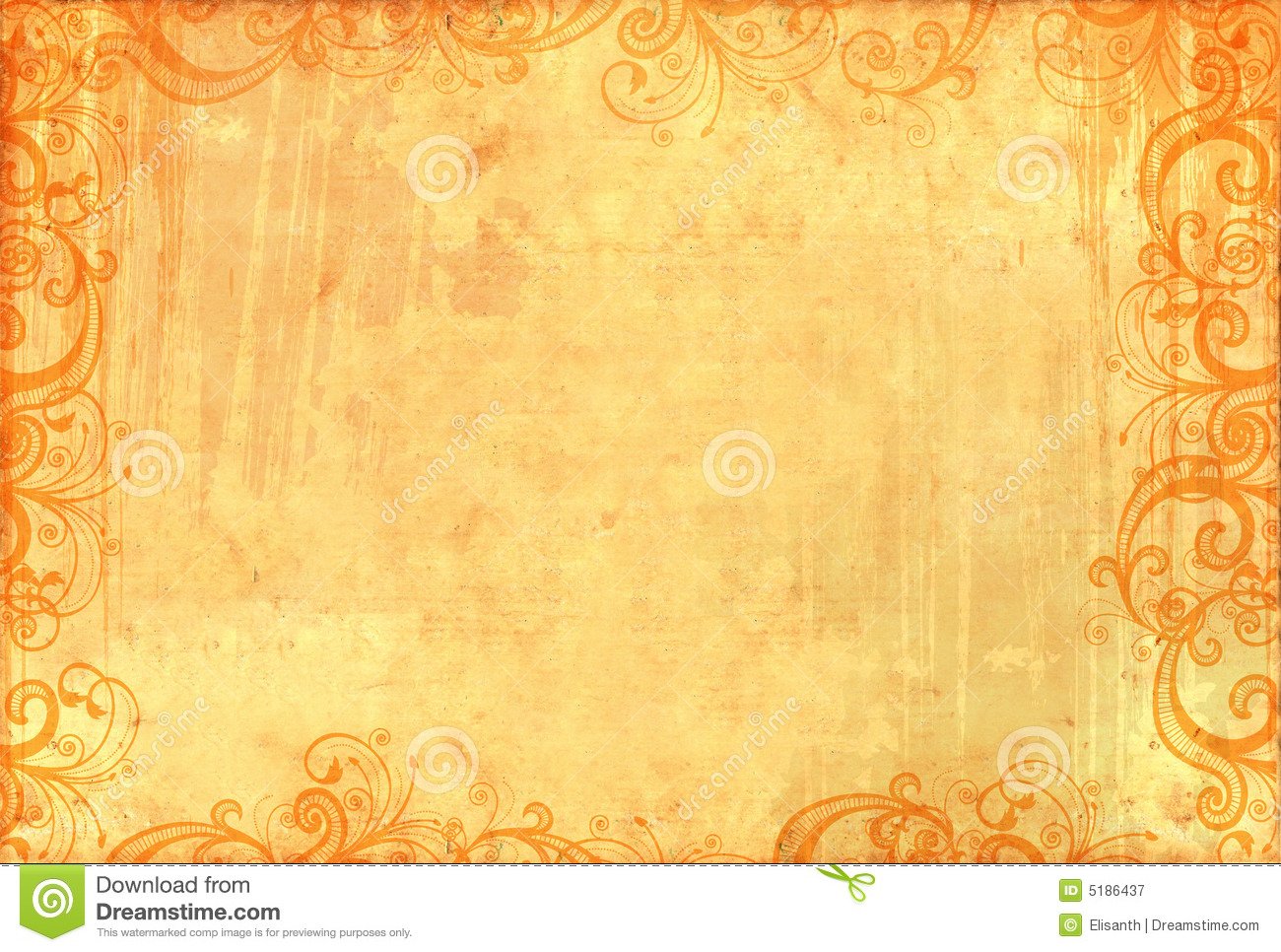 Old Textured Wallpaper With Floral Patterns Royalty Free