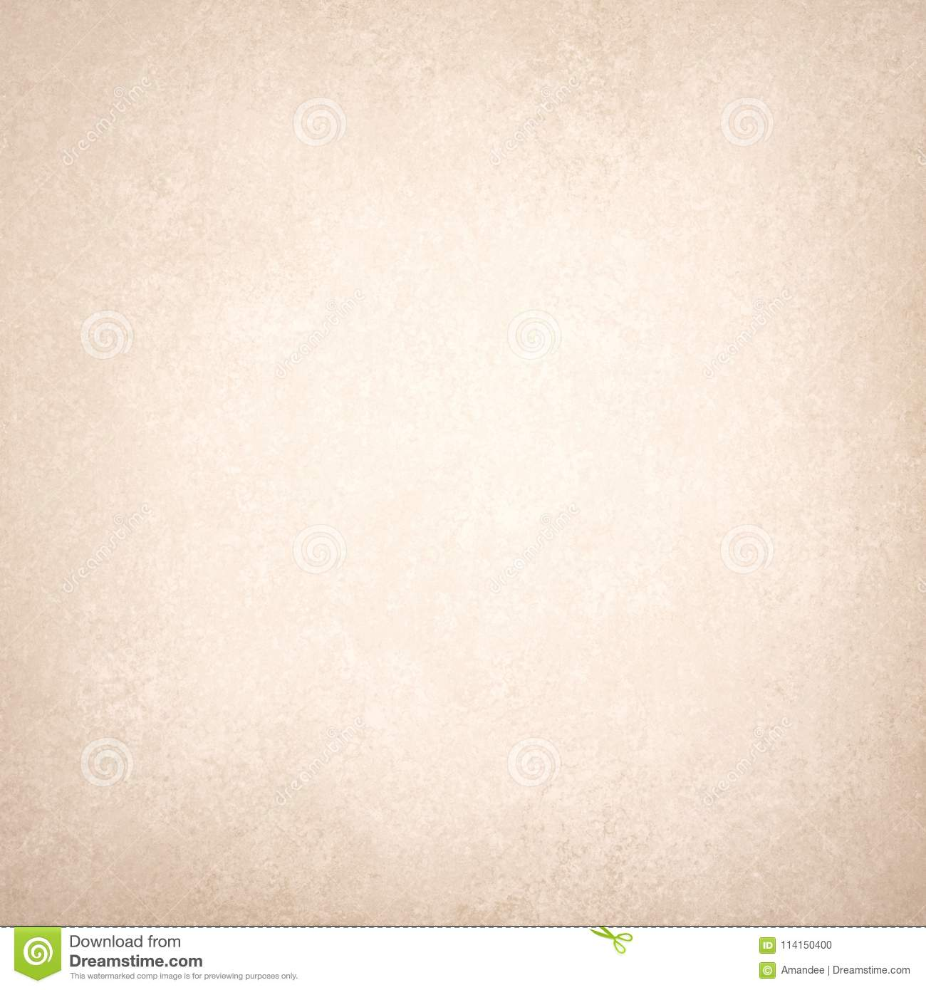 Old Textured White Paper With Brown Border Vintage