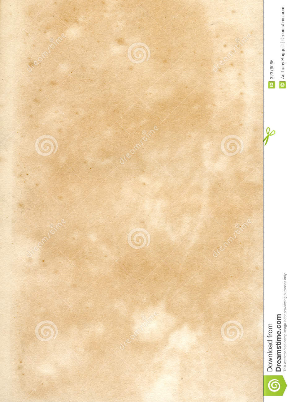 Old vintage early19th century old textured paper document background.