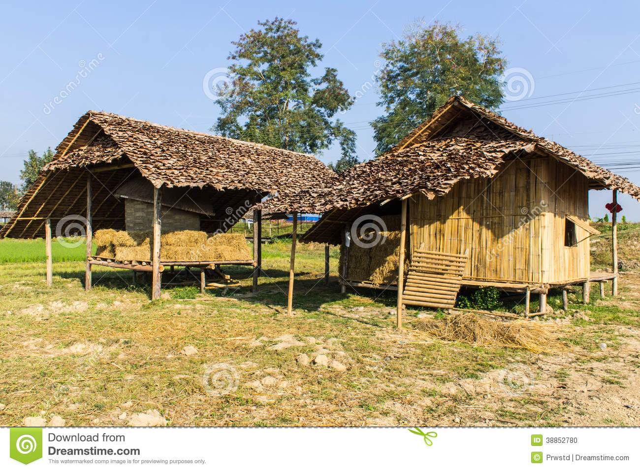 Old thai house lanna style stock photo image 38852780 for Thai classic house