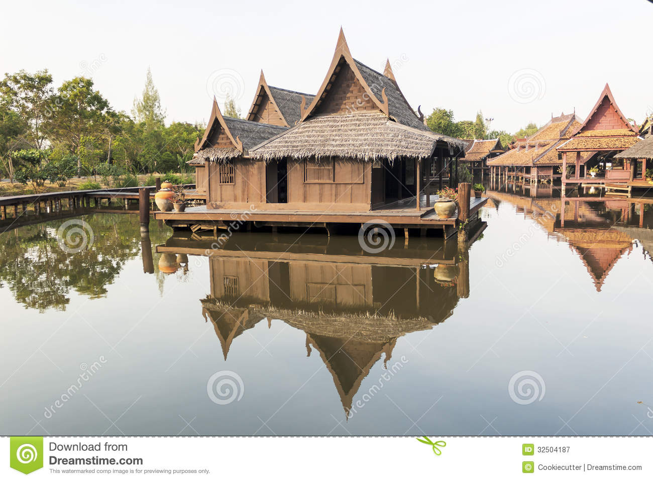 Old thai house royalty free stock photography image for Thai classic house 2