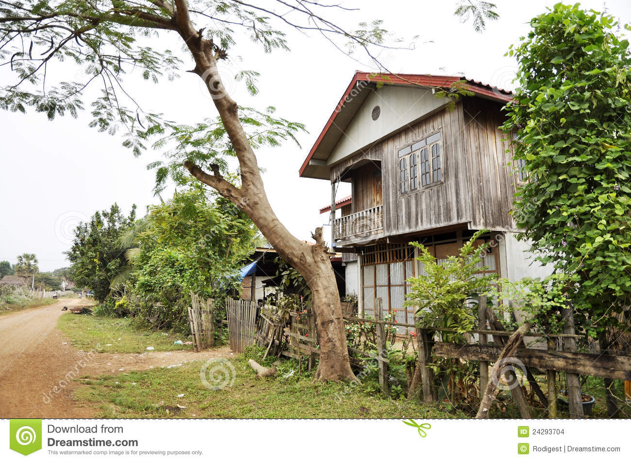 Old Thailand Retro Style Country Vintage House Stock Photo