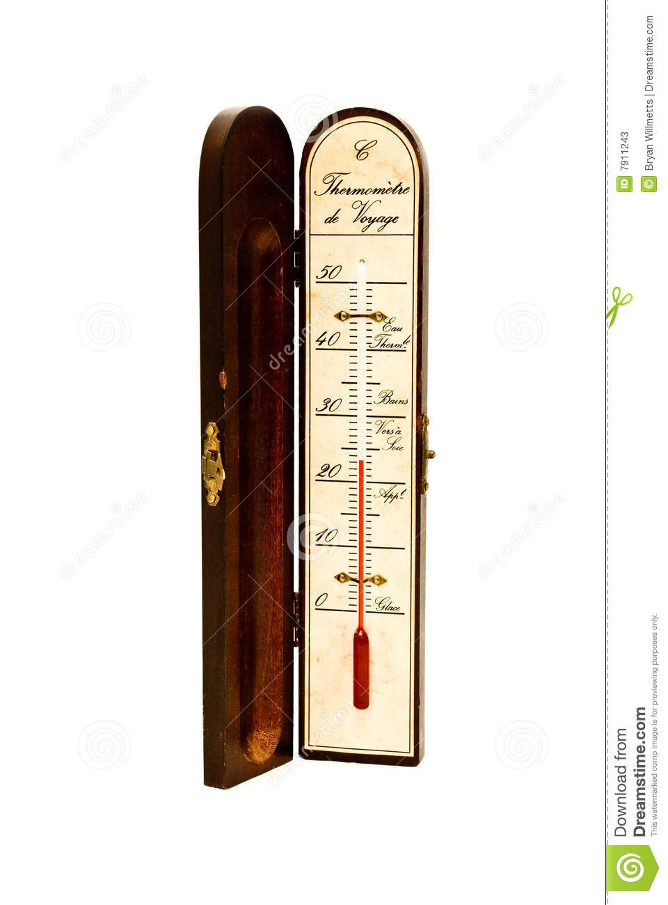 Old Fashioned Mercury Thermometer