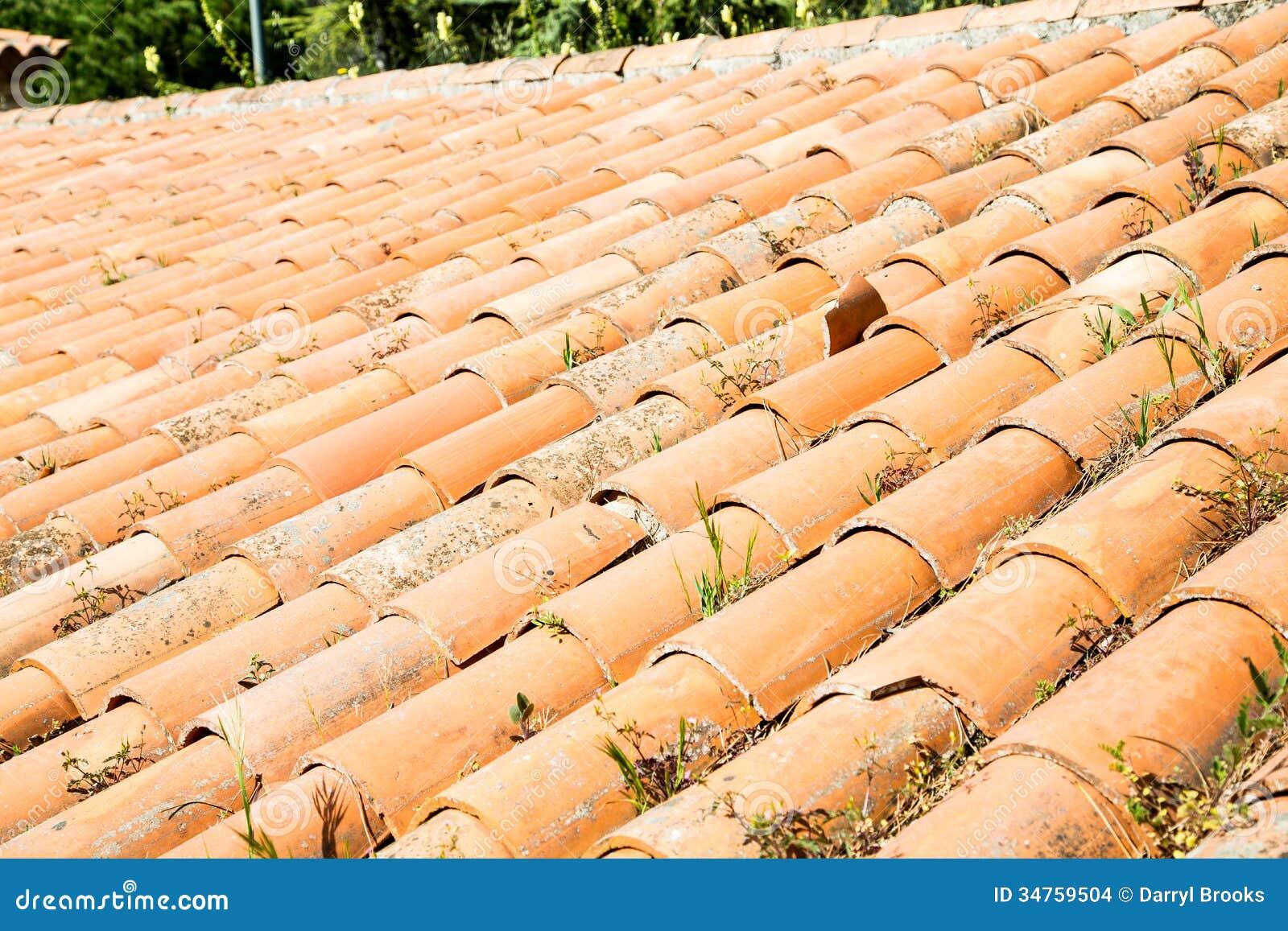 Tile roof old clay tile roof for Clay tile roof