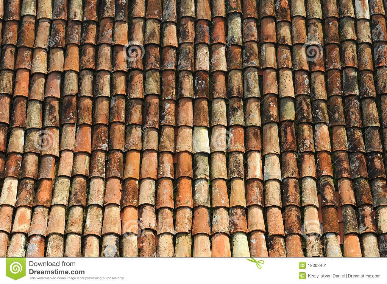 Old Tile Roof Stock Image Image 18303401