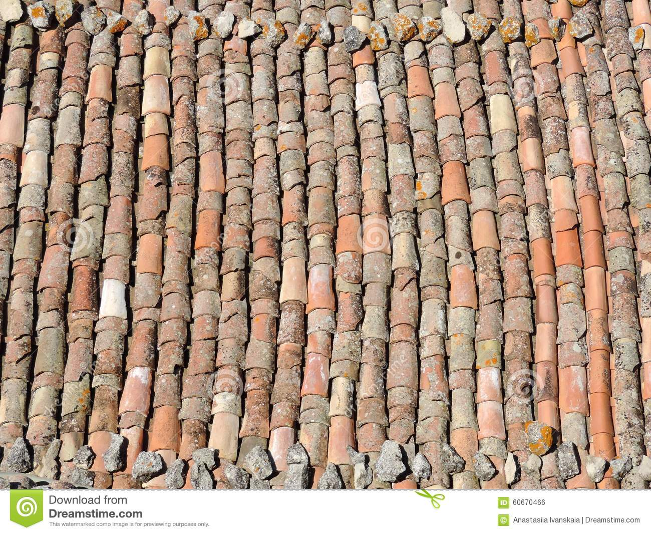 Old Tile Roof Texture Stock Photo Image Of Detail