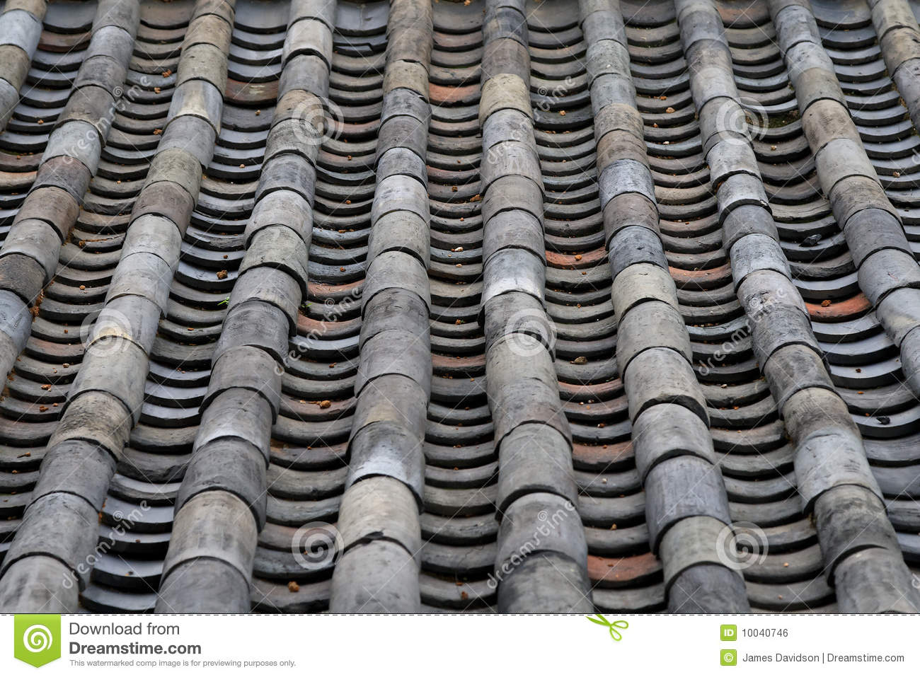 Old Tile Roof Of Traditional Korean Architecture Royalty
