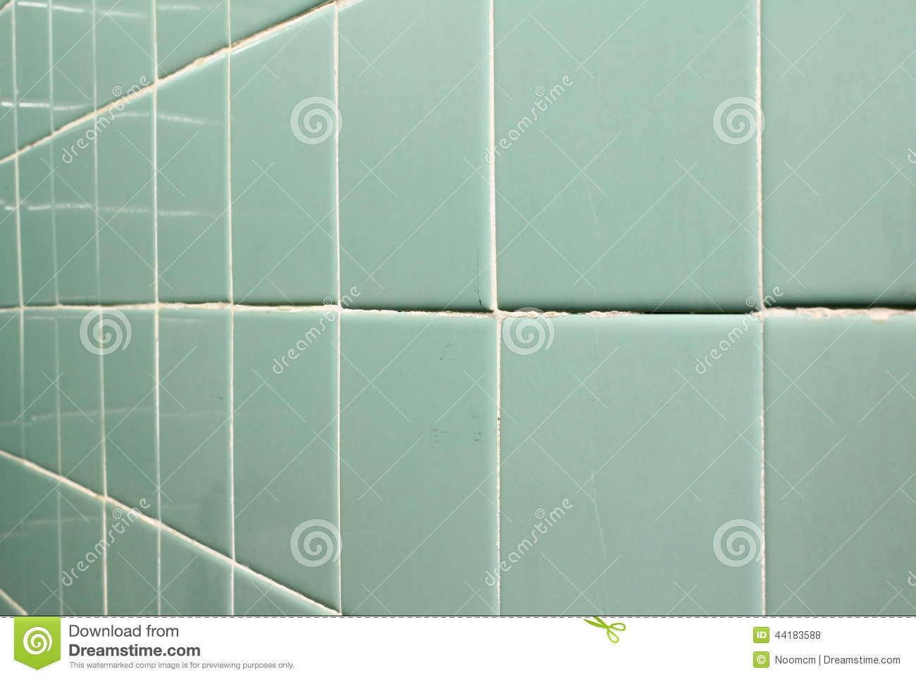 Old Tile Wall Stock Photo Image 44183588