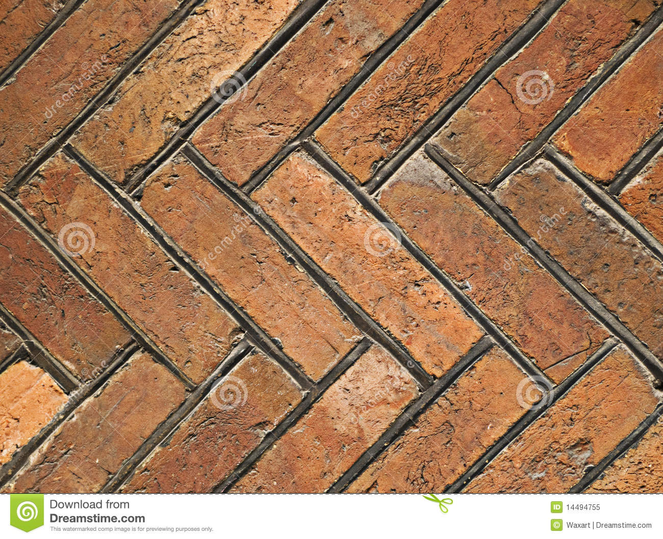 Old Tiles In Herringbone Design Royalty Free Stock Photo
