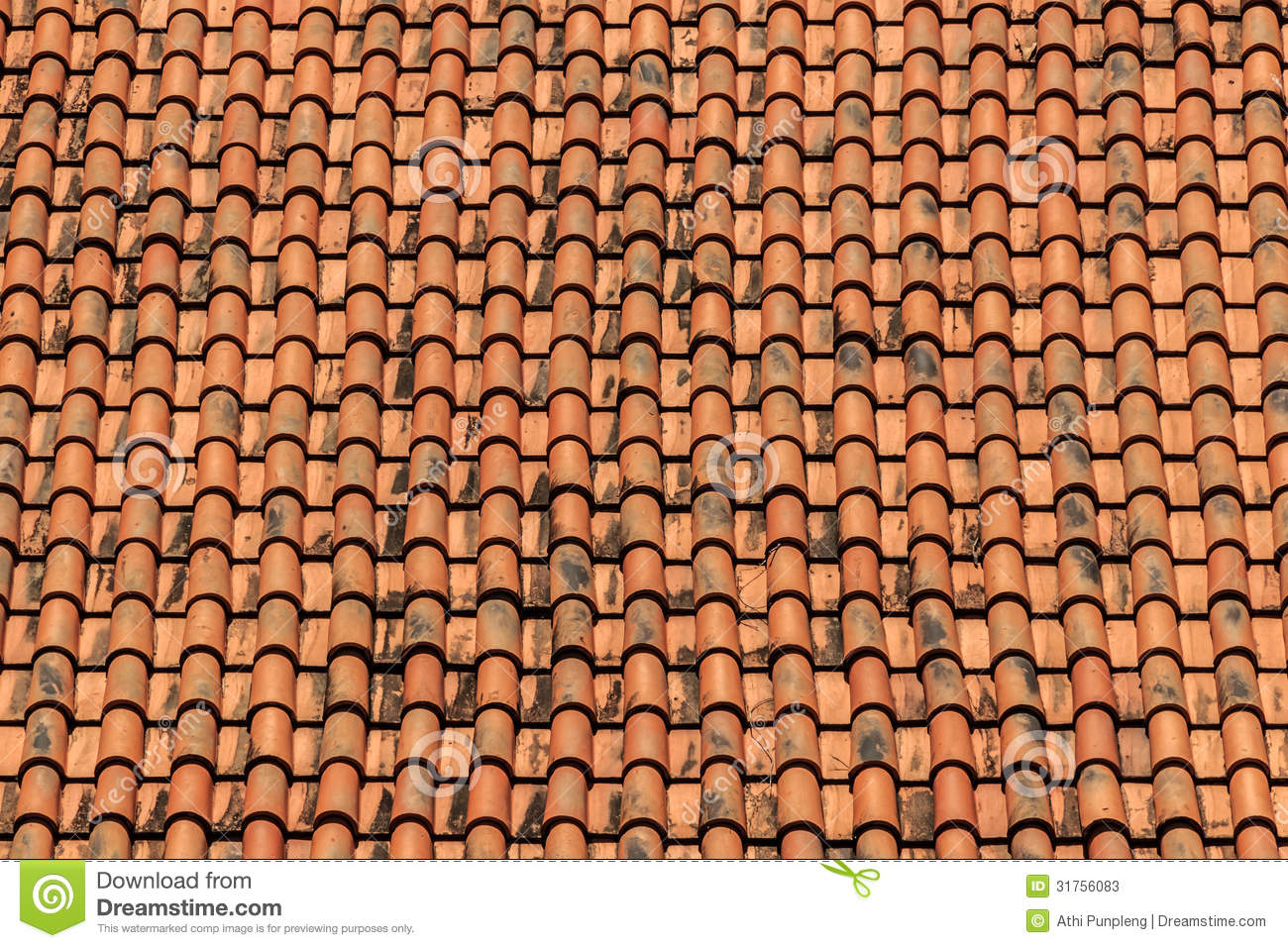 Old Tiles Roof Background Stock Photos Image 31756083