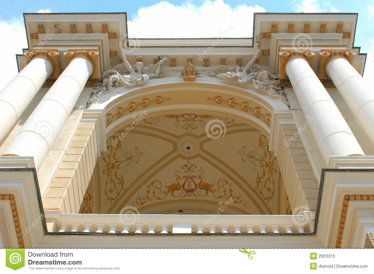Building A House On Pillars : Old time building with pillar stock photos image