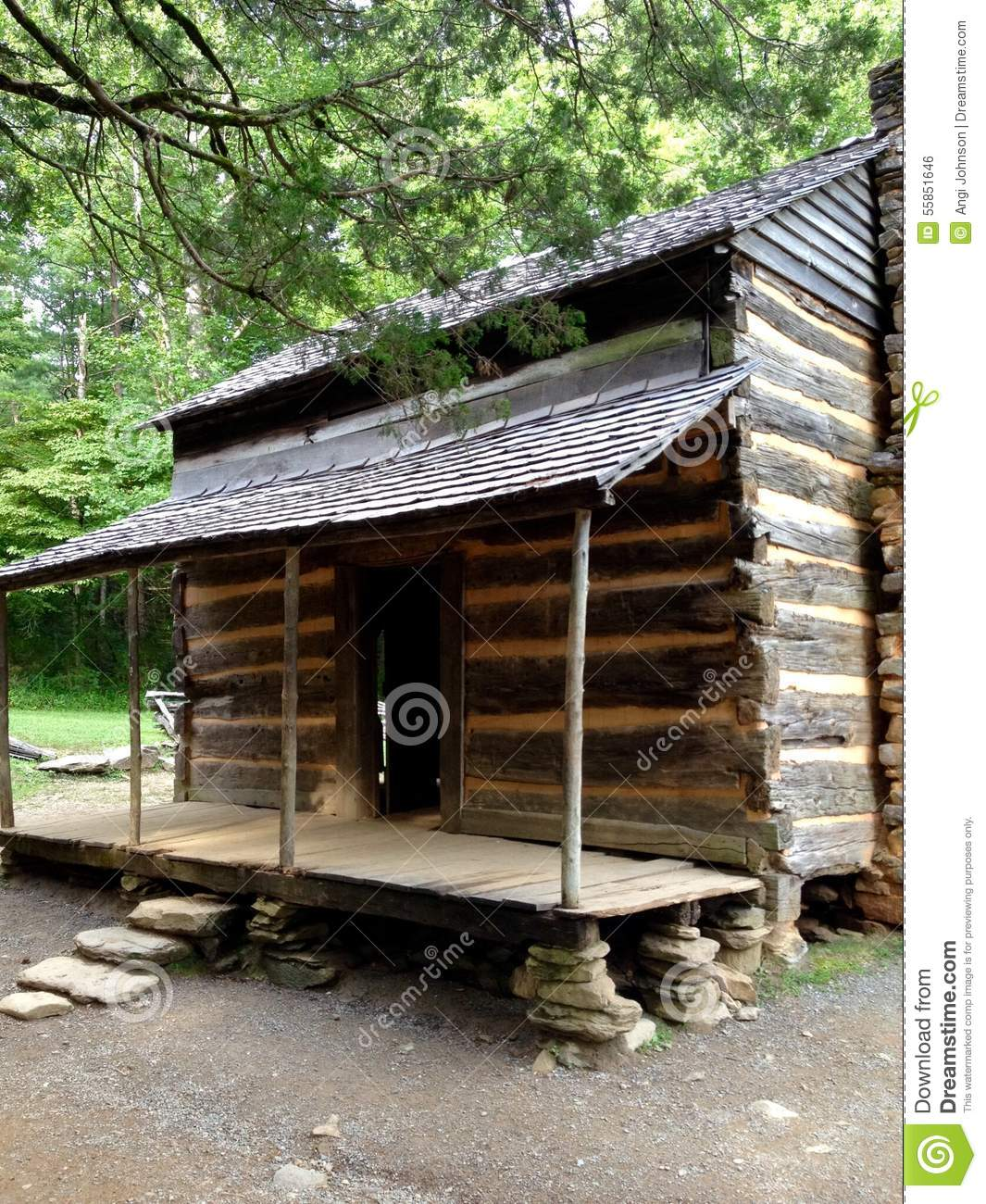 Old Time Cabin Stock Photo - Image: 55851646