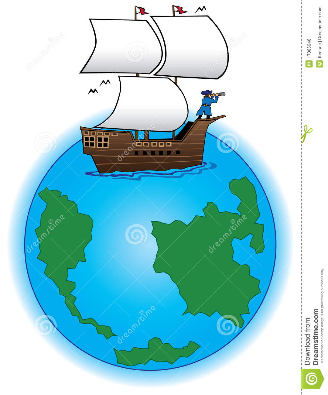 old time sailing ship on globe royalty free stock image clipart bowling clipart bow and arrow