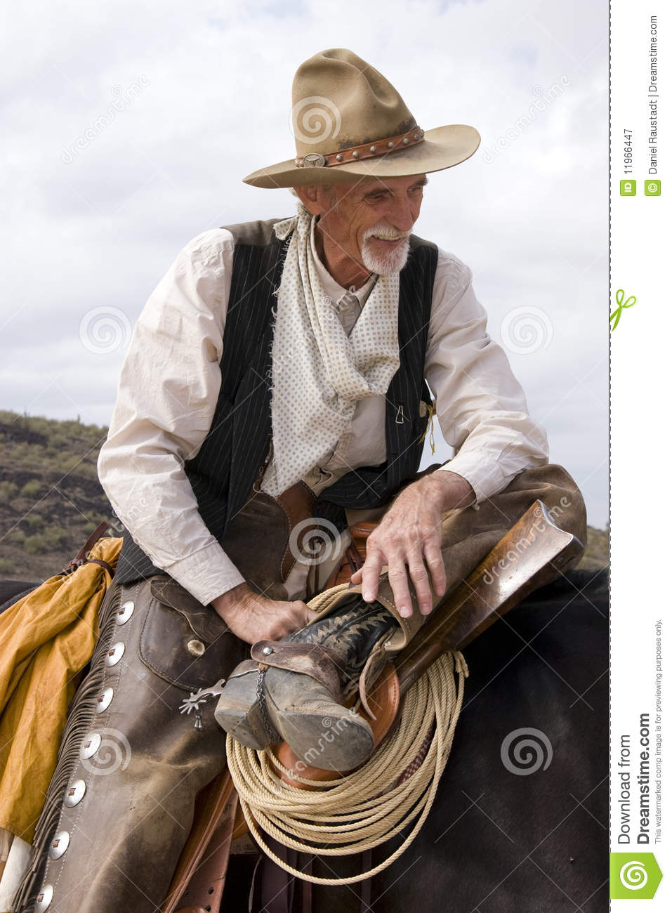 Old Timer Western Cowboy Roper Royalty Free Stock Photography - Image ...