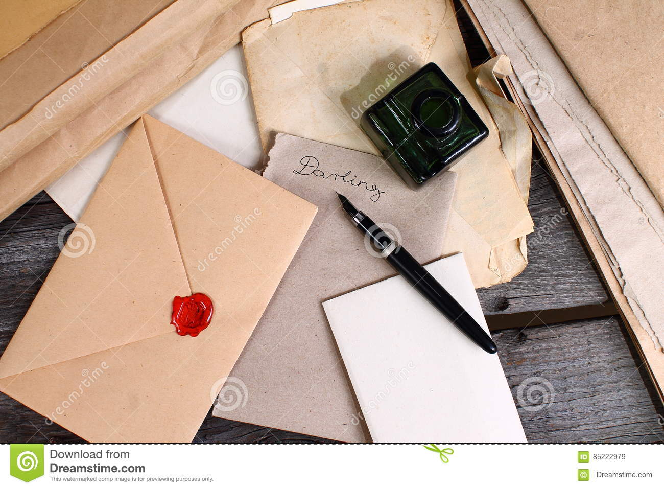 Old Times   Love Letter Writing Stock Image   Image of europe