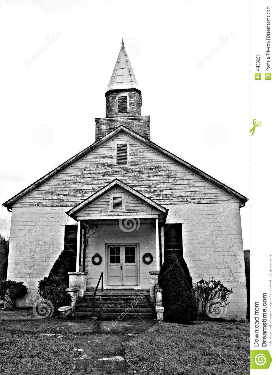 Old Timey Country Church Stock Image Image 4438221